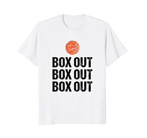 Funny Basketball Coach Gift Saying Tshirt Box Out Grunge