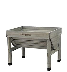 Vegtrug VTGWS 0391 USA Small Grey Wash Raised Bed Planter from Vegtrug