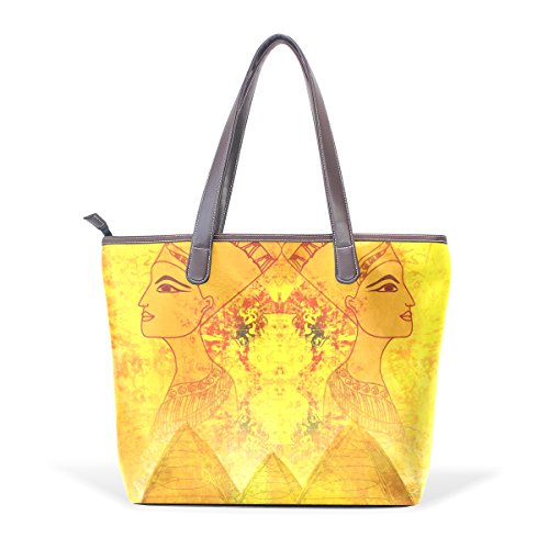 33x45x13 Tote Muticolour L Queen Shoulder Old Leather Bag With Large Women Egyptian Handles Bag Paper Cm Pu Handle Coosun 7awZqHZC