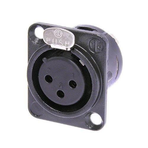 XLR, Negro, N/íquel, Poliamida, Acero, Zinc de Acero, N/íquel, UL, UL 94 HB, IEC 61076-2-103, IP 40, IEC 68-2-20, 26 mm Neutrik NTR-NC3FDLBAG1 Conector