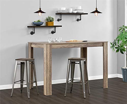 Dhp Fusion Metal Backless 30 Quot Bar Stool With Wood Seat