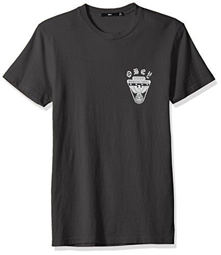 Obey Men's Eagle Shield Dyed Crewneck Tshirt, Dusty Fog, M