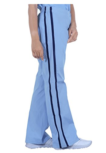 NU Dimension BOGO Special (See Below).Women Knit Side Panel Stretch Scrub Pant -CBL-NVY-L Peaches Low Rise Pants