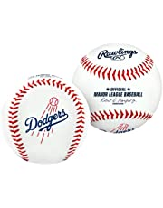 Bola de beisebal com o logotipo do time Los Angeles Dodgers, oficial, branco