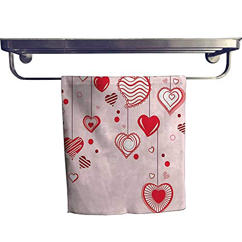 Leigh home Dry Fast Towel,Contour Hearts Hanging On Strings Romantic Anniversary Celebration Happy ,Gym Swim Hotel Use W 8