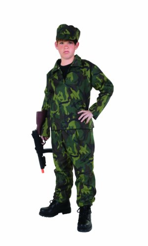[RG Costumes Commando Costume, Child Large/Size 12-14] (Cool Halloween Costumes For Three Girls)