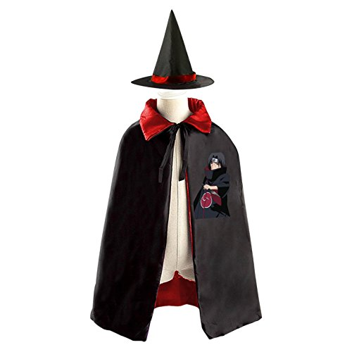 Childrens' Halloween Costume Cloak Style Cape Wizard Hat Cosplay Naruto For Kids