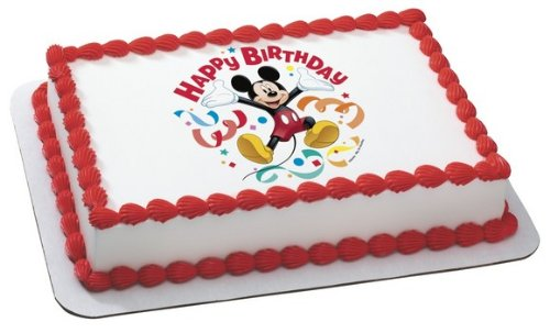 Whimsical Practicality Mickey Mouse Clubhouse Streamers Edible Cake Topper Decoration Sheet Measures 8.5x10.5 Inchs (Mickey Mouse Clubhouse Sheets)