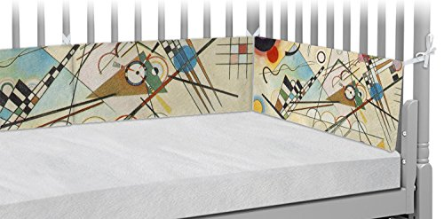 Kandinsky Composition 8 Crib Bumper Pads by RNK Shops