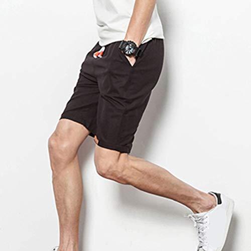 Lino Casual Mens Pantaloni Festivo Tinta Corti Beach Unita Coulisse Di Sport Abbigliamento Schwarz Athletics Summer Teens Boys BqOYUnq6