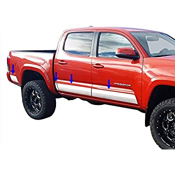 Works with 2014-2018 Chevy Silverado Regular Cab 6.8 Bed Rocker Panel Trim 8 Wide 10PC Tyger Auto Made in USA