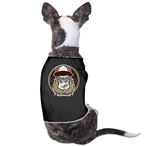 NT Huatou Cute Dog T-Shirts Skate Gorilla with Cap Pet Costume for Pet Dogs Cats Soft and Breathable Black 31 ()