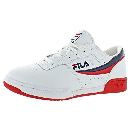 (Fila Mens Original Fitness Leather Retro Classic Trainer Sneaker White Size 11.5)