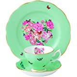 Royal Albert Blessings 3-Piece Teacup, Saucer and Plate Set Designed by Miranda Kerr