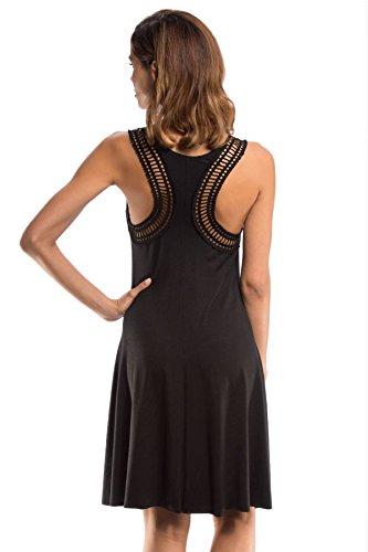 Robin Piccone Women's Laurel Tank Dress Swim Cover Up Black M