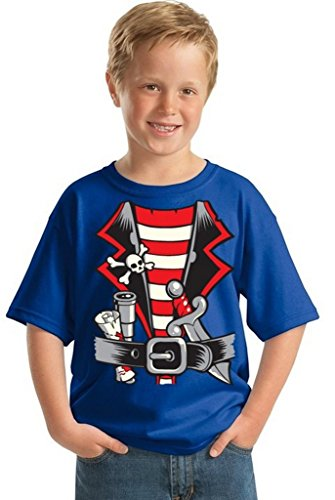 Awkwardstyles Youth Pirate Costume T-Shirt Happy Halloween Kids Shirt S (Scary Pirate Boys Costume)