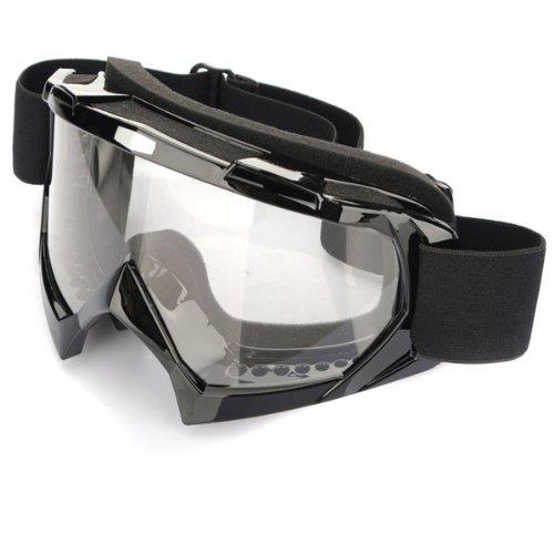 FunnyToday365 Super Motorcycle Bike Atv Motocross Ski Snowboard Off-Road Goggles Fits Over Rx Glasses Eye Lens