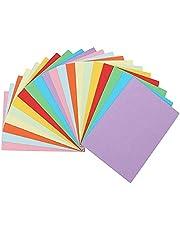 Construction Paper, 20 Pcs Building Paper for Crafting Children Art Painting Coloring Color Jam, Multicolor