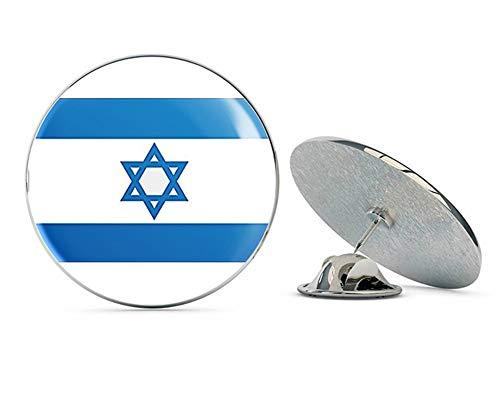 "NYC Jewelers Flag of Israel (Israeli Jewish) Metal 0.75"" Lapel Hat Pin Tie Tack Pinback"
