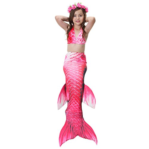 Cosplay Style for Siamese Baby Swimming Girls Performance Halloween Lace Costume Dress XFentech Sequined Swimsuit Swimwear 2 Oq6wn0