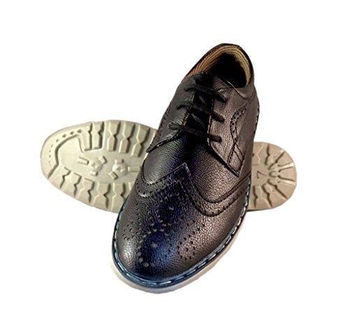 Deal Especial - Zapatos de cordones de Piel Vuelta para hombre negro negro