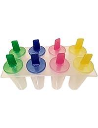 Purchase 8 Freezer Ice Pop Molds, Popsicle Yogurt Ice Cream Frozen Pops Cake Treats Maker (1 Pack) saleoff