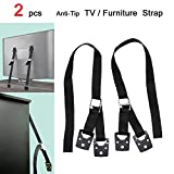 MySit Anti Tip TV Safety Strap and Furniture Straps, Hardware Included, All Metal Parts, 2 Pack ( TV_Strap_2 )