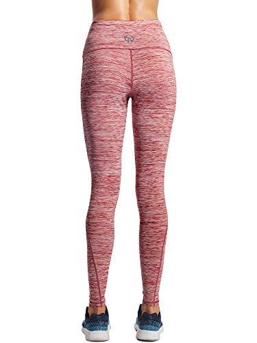 Neleus Tummy Control High Waist Workout Running Leggings for Women,9033,Yoga Pant 3 Pack,Black,Grey,Red,XS,EU S by Neleus (Image #6)