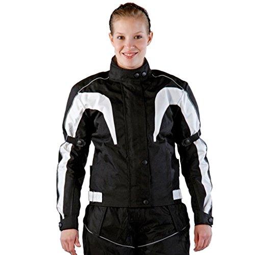 Lemoko Damen Textil Motorradjacke schwarz Gr L