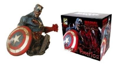 Marvel Zombies Colonel America Bust - SDCC Exclusive Captain America San Diego Comic Con 2007