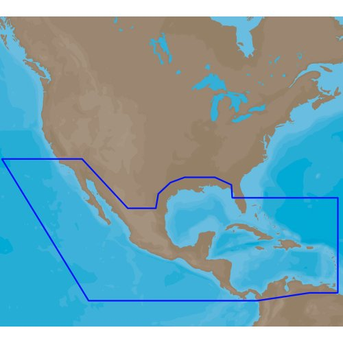 C-MAP 4D Full Central America & Caribbean SD/MSD Card