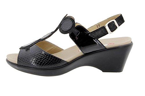 Cuir Femme Amovible Confort Confortables À Pitón Chaussure Semelle 1857 Amples Piesanto En Negro Sandales zq5I1I