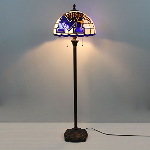 Stained Desk Glass Tigers - 16-inch NCAA Memphis Tigers Stained Glass Floor Lamp
