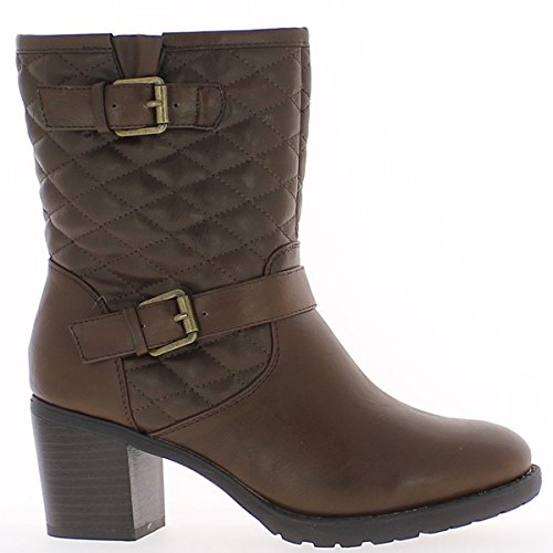 Brown Stiefel insgesamt 7cm Stiel gepolsterte Ferse