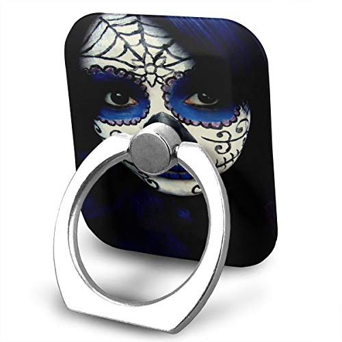 Ring Holder Guy Sugar Skull Makeup Ring Phone Holder Adjustable 360 Degree Rotation Finger Ring Stand for IPad, Kindle, Phone X/6/6s/7/8/8 Plus/7, Galaxy S9/S9 Plus/S8/S7 Android -