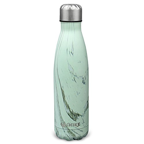 Birchwood Wine (Cicike Vacuum Insulated Stainless Steel Water Bottle , Double Wall, 17oz(500ml), 18/8(304), Cola Shape, Leak Proof with Free Gift Cleaning Brush and Neoprene Cover (Birchwood))