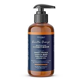 Aquableu Natural Sweet Orange Vanilla Conditioner – Naturally Moisturizing, Soothes Dry Hair w/Silk Amino Acid Aloe & Shea Butter – Keratin Home Care Treatment – For Men & Women – Sulfate free – 16oz