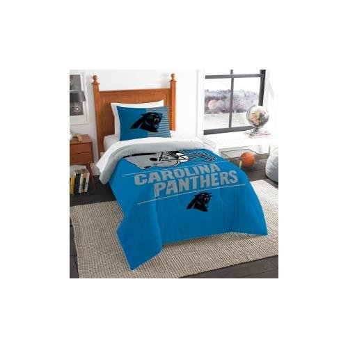 The Northwest Company Carolina Panthers NFL Twin Comforter Set (Draft Series) (64