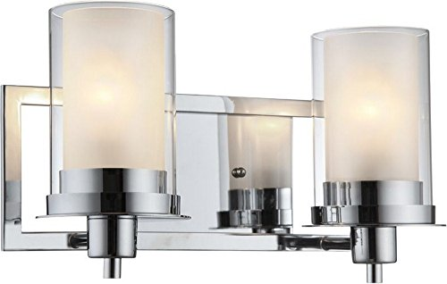 Hardware House 210454 Avalon 2-Light Wall and Bath Fixture with Chrome Finish 2 Light Avalon Bath