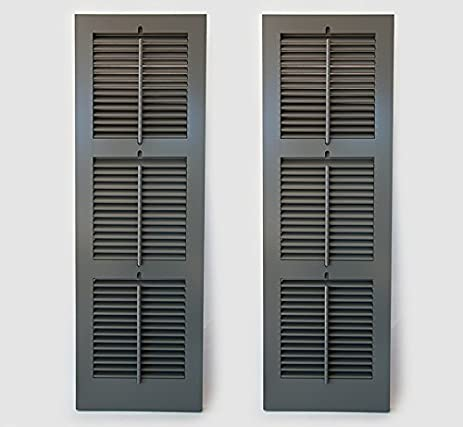 Timberlane Outdoor Cedar Shutter Pair With Operable Louvers   Painted Green  18u0026quot ...