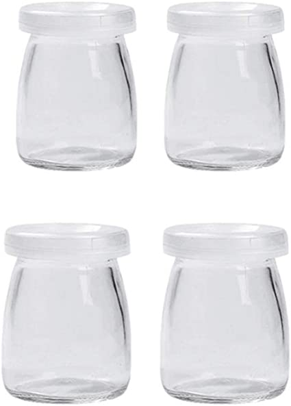 UPKOCH vasetti di Vetro con Coperchio vasetti di Yogurt per marmellata spezie Miele 200 ml
