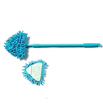 About Life 2 Replacement Mini Mop Cleaner Floor and corner Cleaning 180 degree rotatable Mop with Extendable Handle 21-35-Inch (Blue)