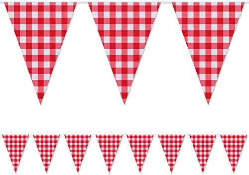 Checkered Banner%EF%BC%8CLarge Christmas Decoration Supplies 32 8