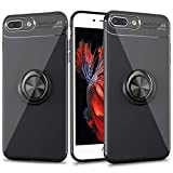 Cresawis iPhone 8 Plus Case, iPhone 7 Plus Case with Ring Holder Kickstand, 360°Adjustable Ring Grip Stand Work with Magnetic Car Mount Anti-Fingerprint Slim Cover for Apple iPhone 7 Plus/8 Plus