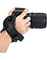 JJC Deluxe DSLR Camera Hand Strap with Quick Release Plate for Canon EOS 90D 80D 70D 77D 60D 6D Mark II 7D Mark II 5D Mark IV III 5Ds R 1Dx Mark II EOS Rebel T8i T7i T6i T5i T7 T6 SL3 SL2 & More DSLR