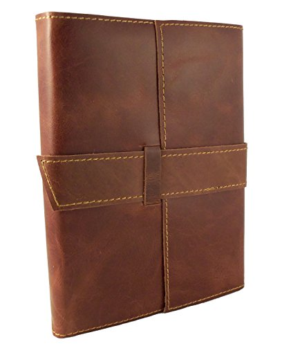 Rustic Ridge Leather Travel Journal with Handmade Paper - Refillable Journal - 6