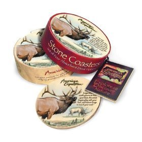 (Elk Stone Coaster Set by American Expedition)