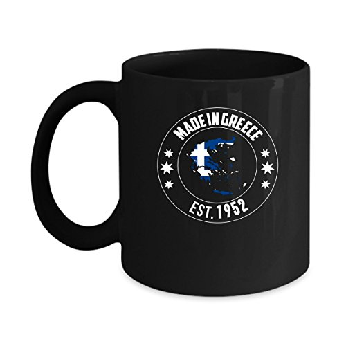 Perfect Gifts for Men and Women Who Born In Greece, Made Est 1952 11oz Nationality Flag Proud Coffee Mugs