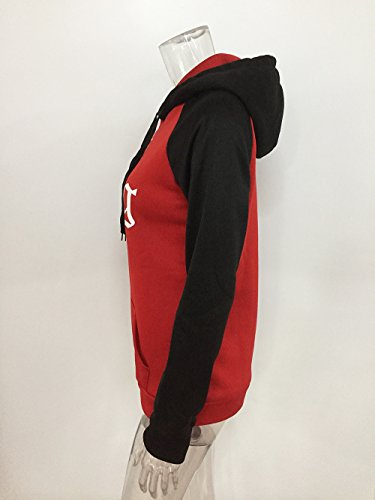 Uomo Sweatshirt Donna Con rosso King Felpe Pullover Queen Cotone Shirt Lunga Manica C Tomwell Coppia Stampa Corona Lovers Oro Tasche O7wq7P