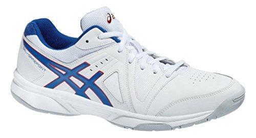 Asics - Zapatillas de tenis para hombre Blanco - blanco, azul y rojo